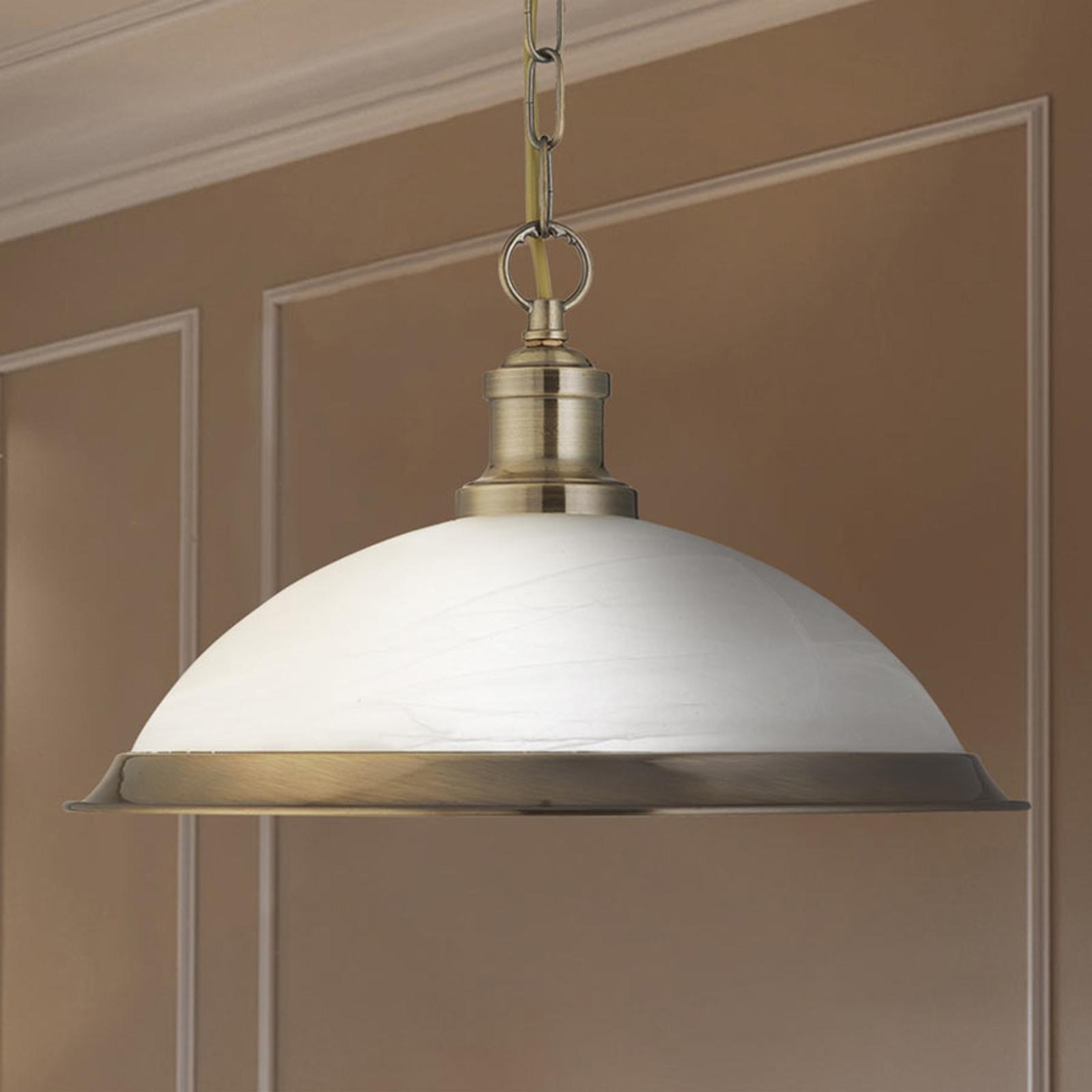 Szklana lampa wisząca Bistro o złotym blasku