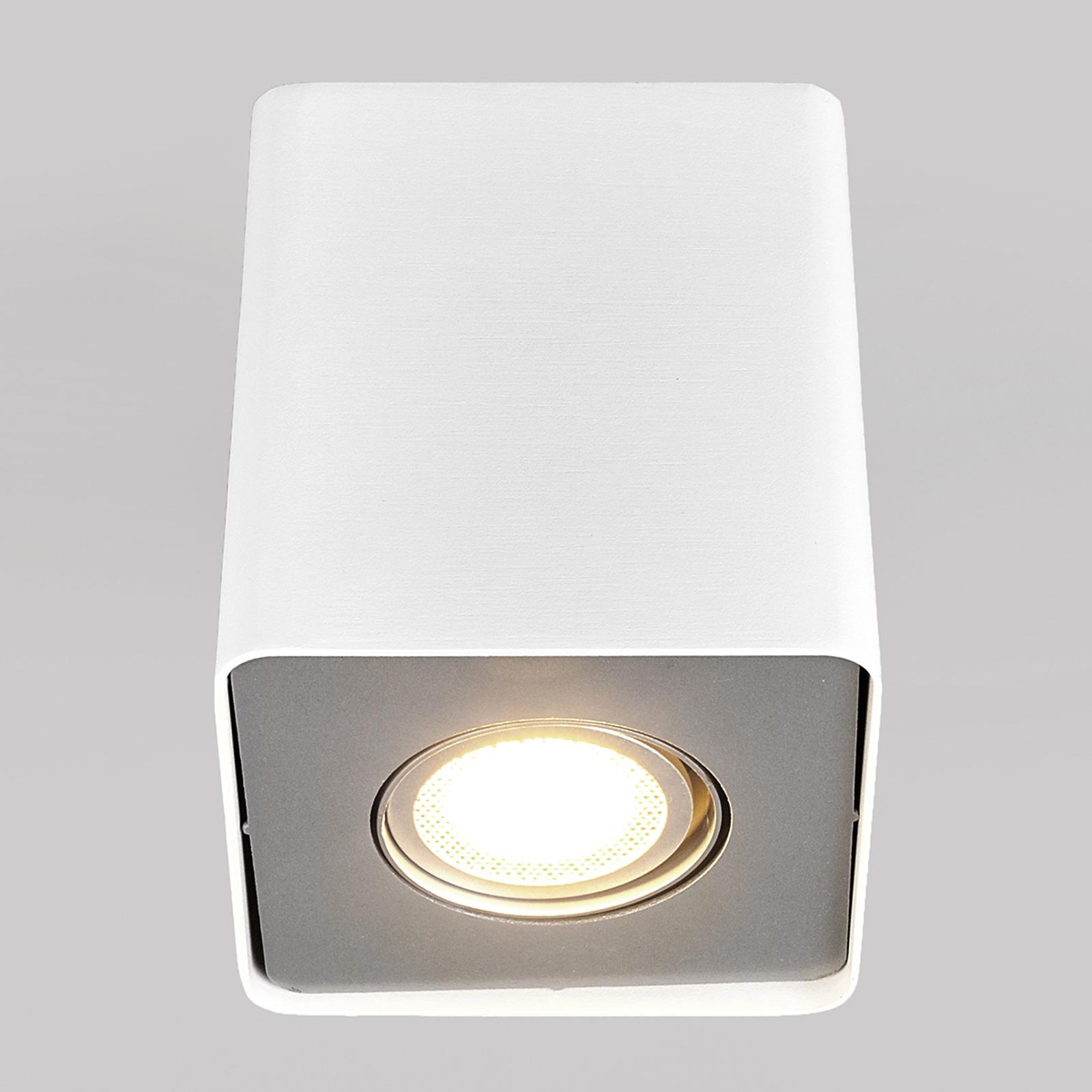 Downlight LED GU10 Giliano, 1-pkt. kątowy biały