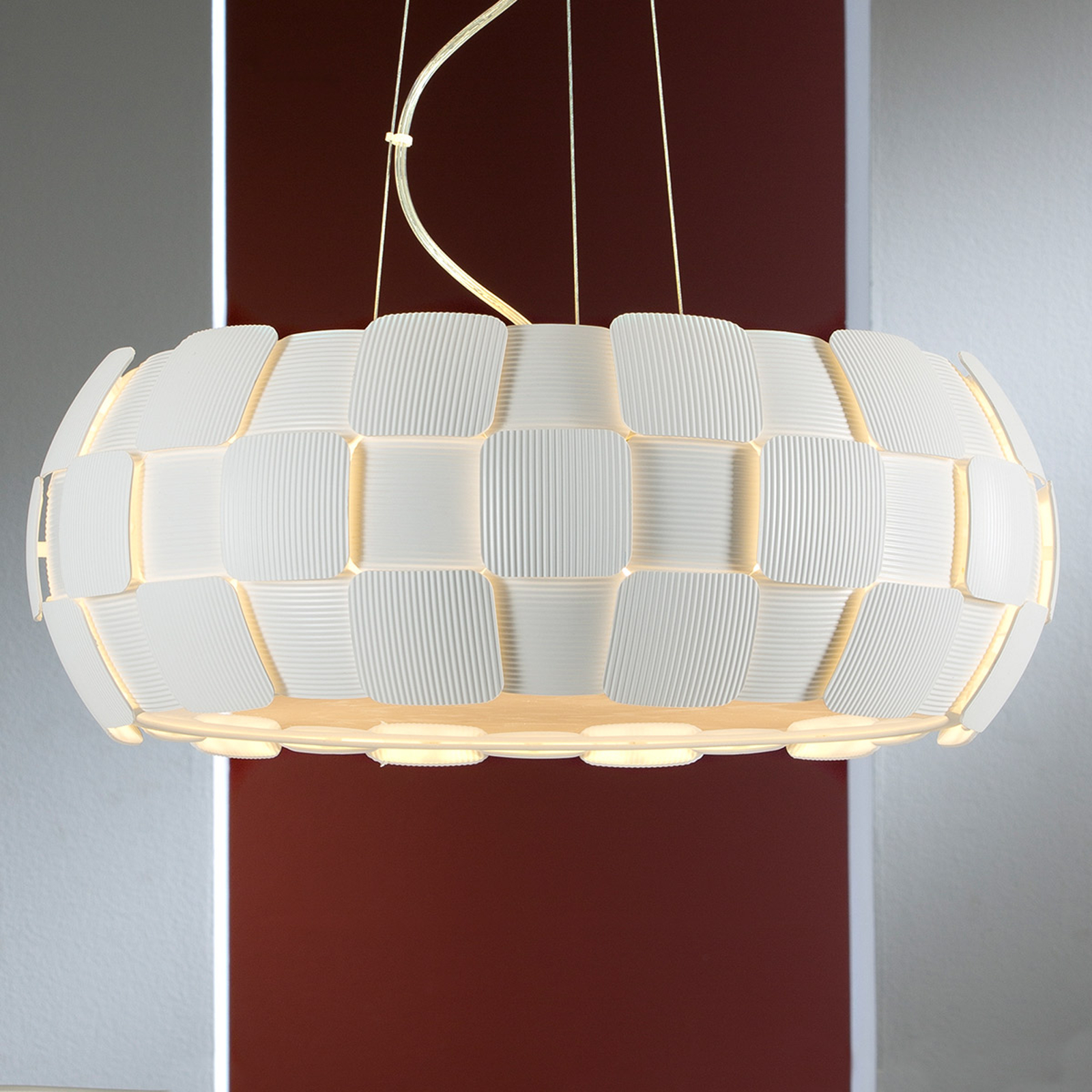 Moderne witte hanglamp Quios
