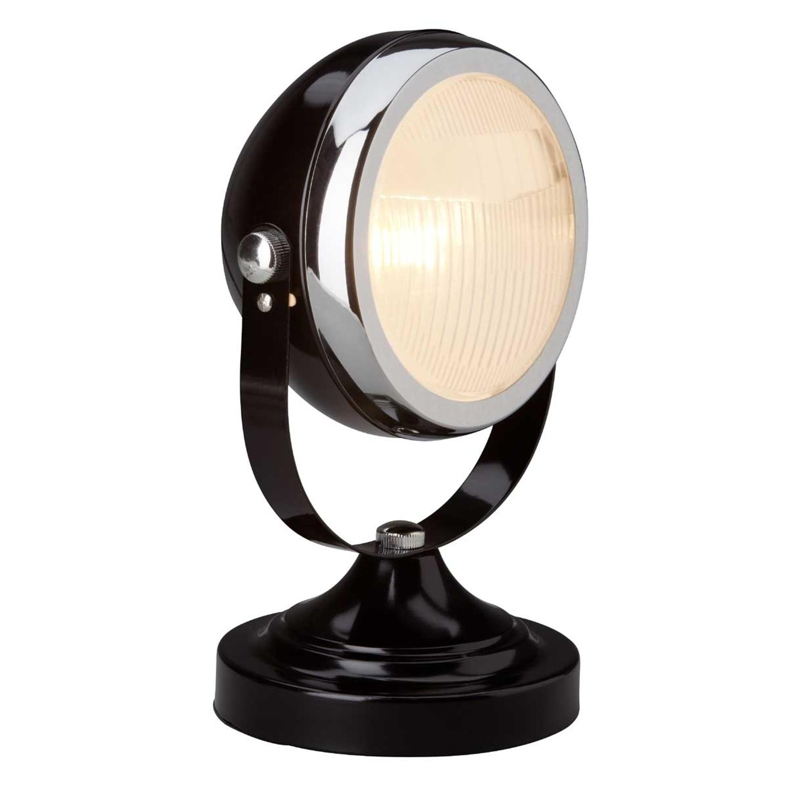 Lámpara de mesa RIDER llamativa, negra