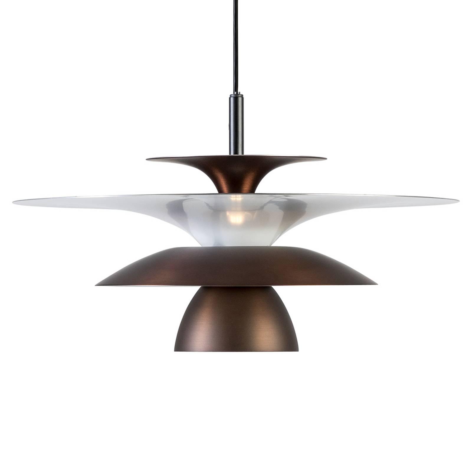 LED hanglamp Picasso 1-lamp, Ø 38 cm, oxidebruin