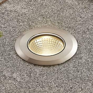 Foco suelo empotrado LED Sulea acero IP67 redondo