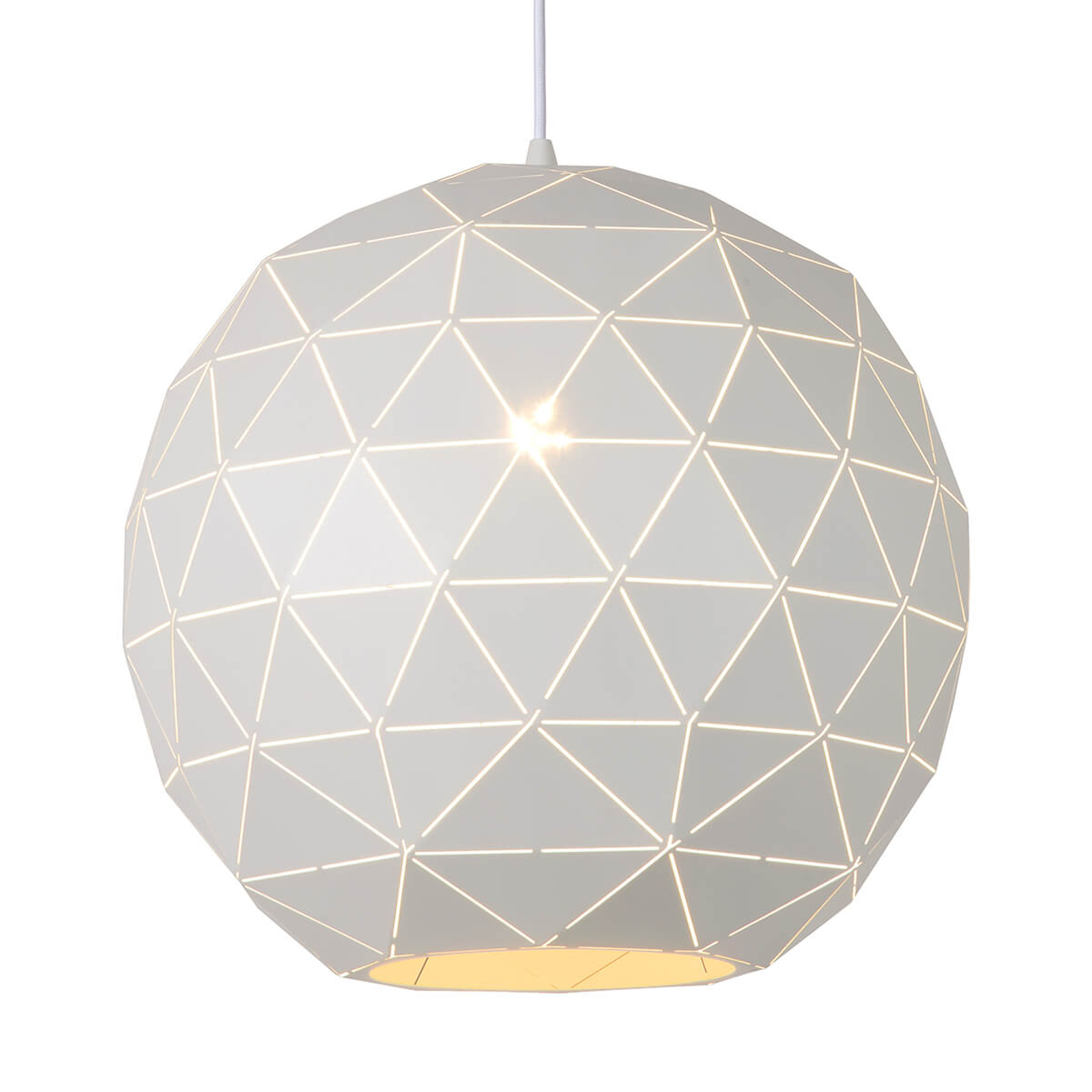 Witte hanglamp Otona van metaal