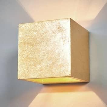 Aplique Yade en forma de cubo, color dorado