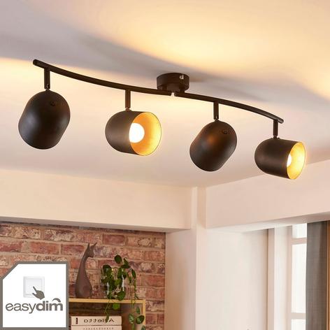 LED-takspot Morik med fire lys, dimbar