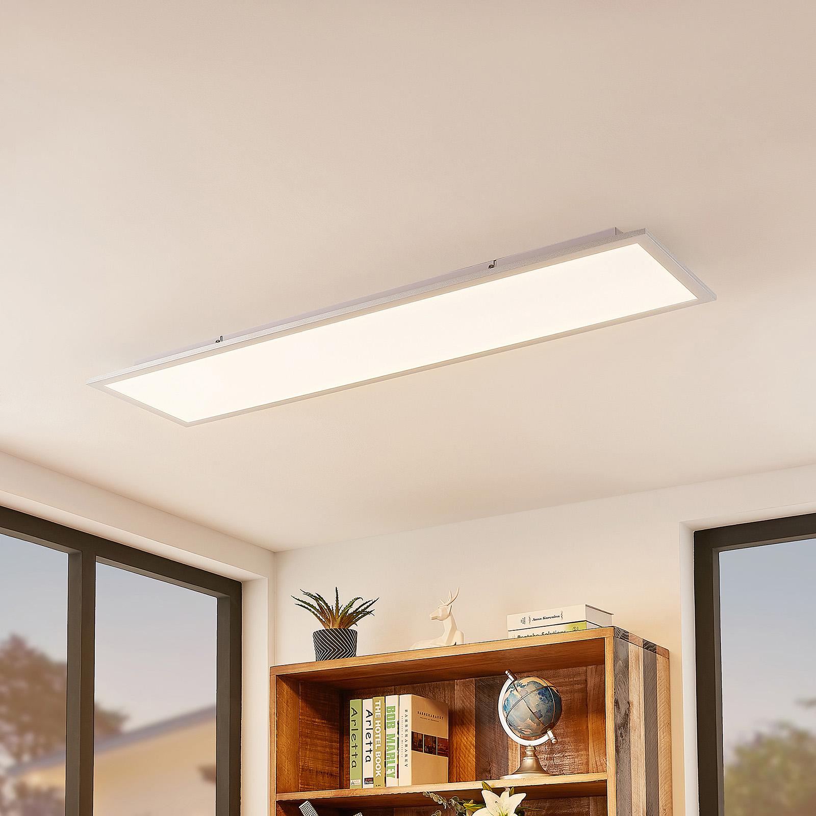 Lindby Kjetil pannello LED a soffitto 120 x 30 cm