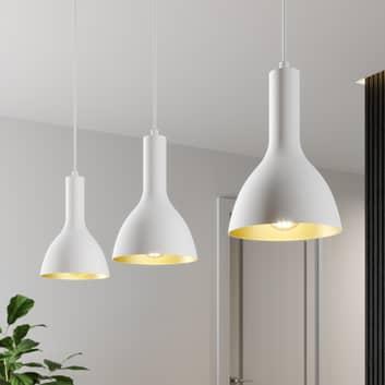 Arcchio Cosmina -riippuvalo, 3-lamp., valkoinen