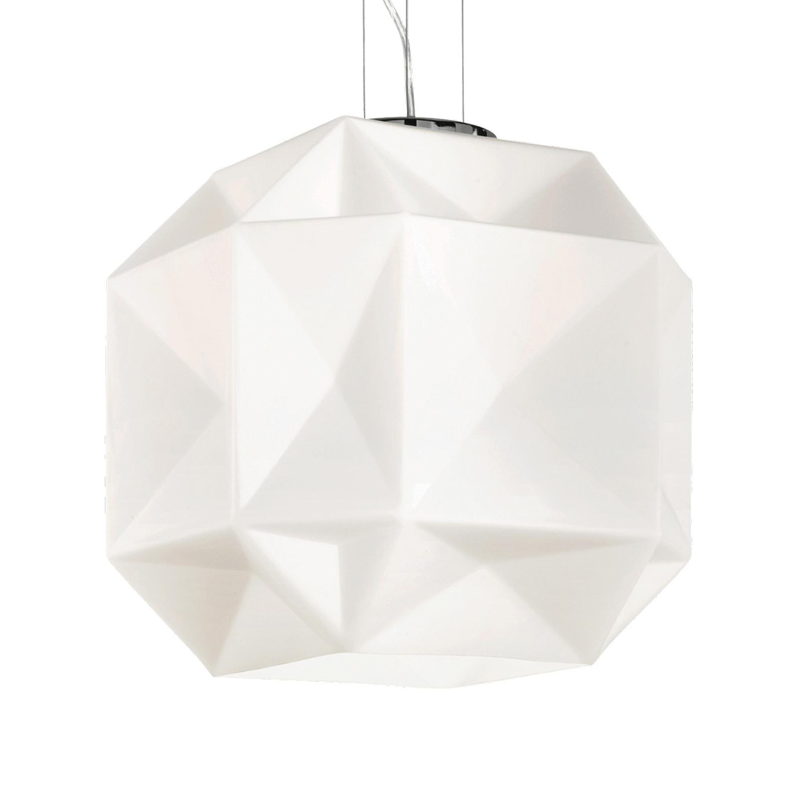 Glazen hanglamp Diamond hoogte verstelbaar Ø 35cm