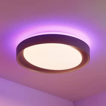 Lindby Alyano-LED-kattovalaisin RGB CCT, himmennys