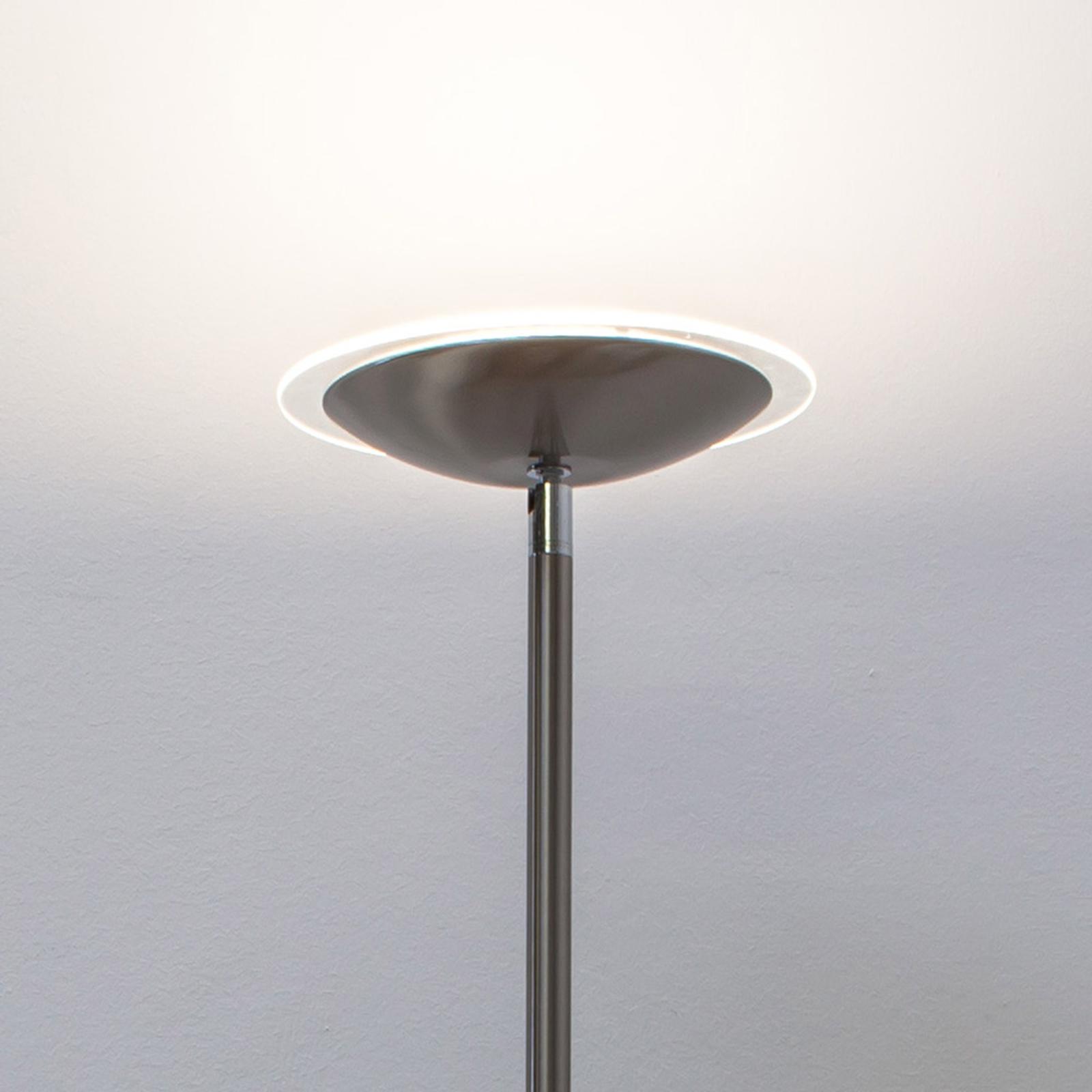 Malea - LED-uplight-golvlampa, matt nickel