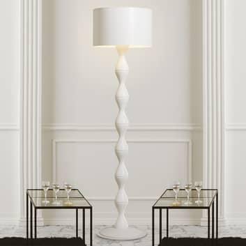 Valkoinen Sara-design-lattiavalaisin