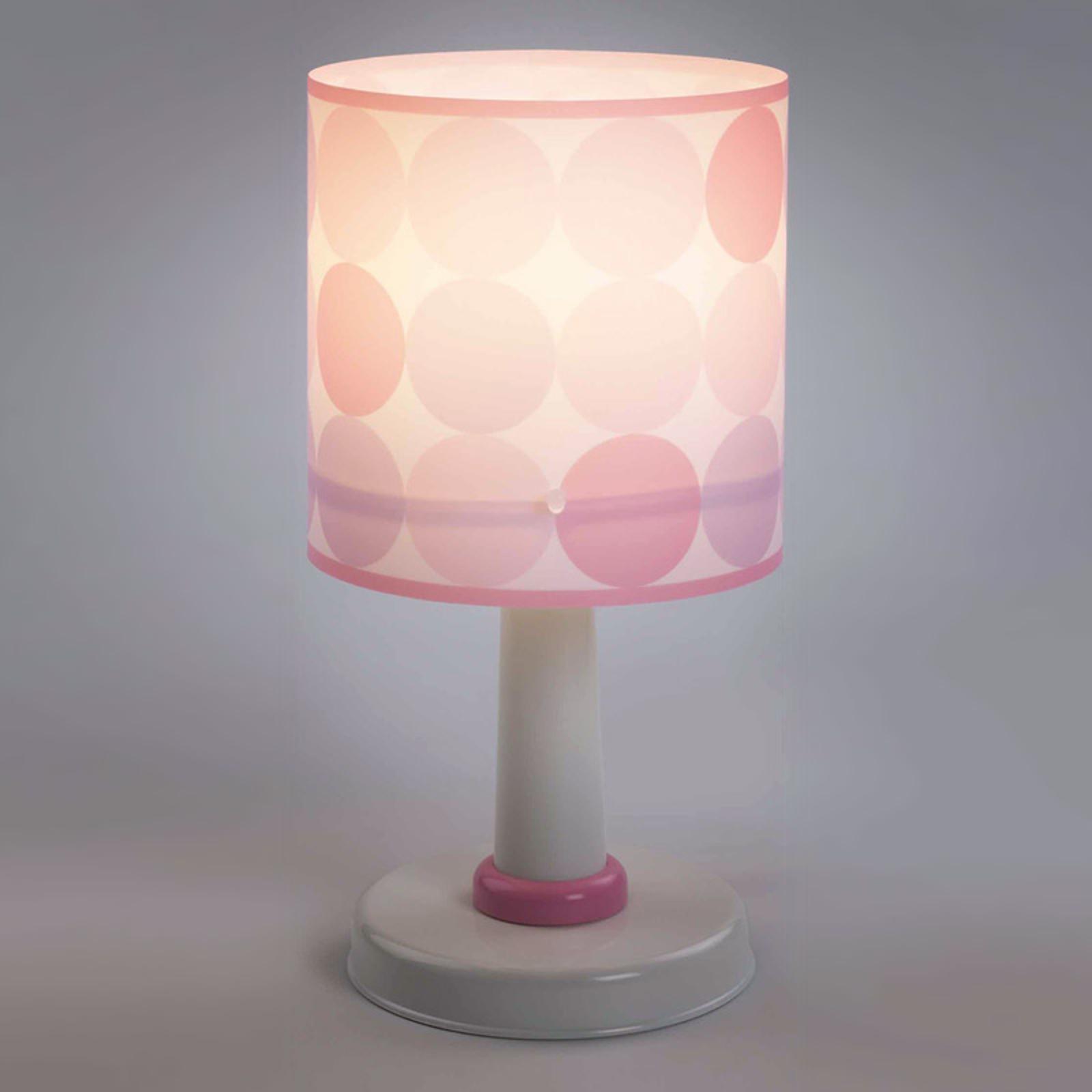 Colors - gepunktete Tischleuchte in Rosa