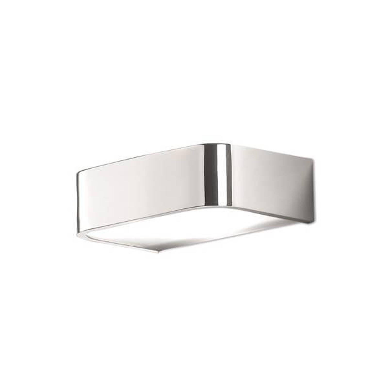 Arcos væglampe med LED til bad, 15 cm, krom