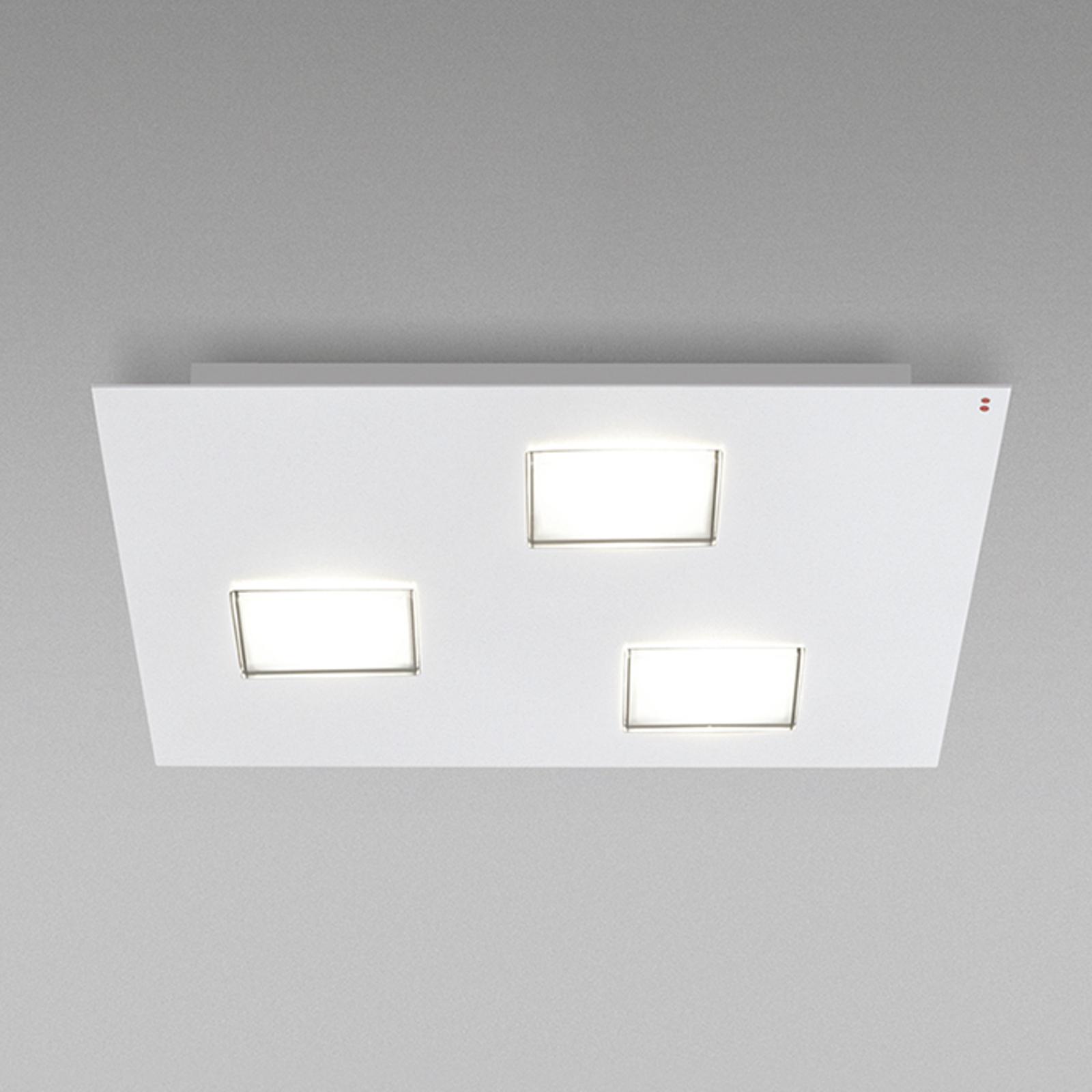 Fabbian Quarter -LED-kattovalo 3-lamp. valkoinen