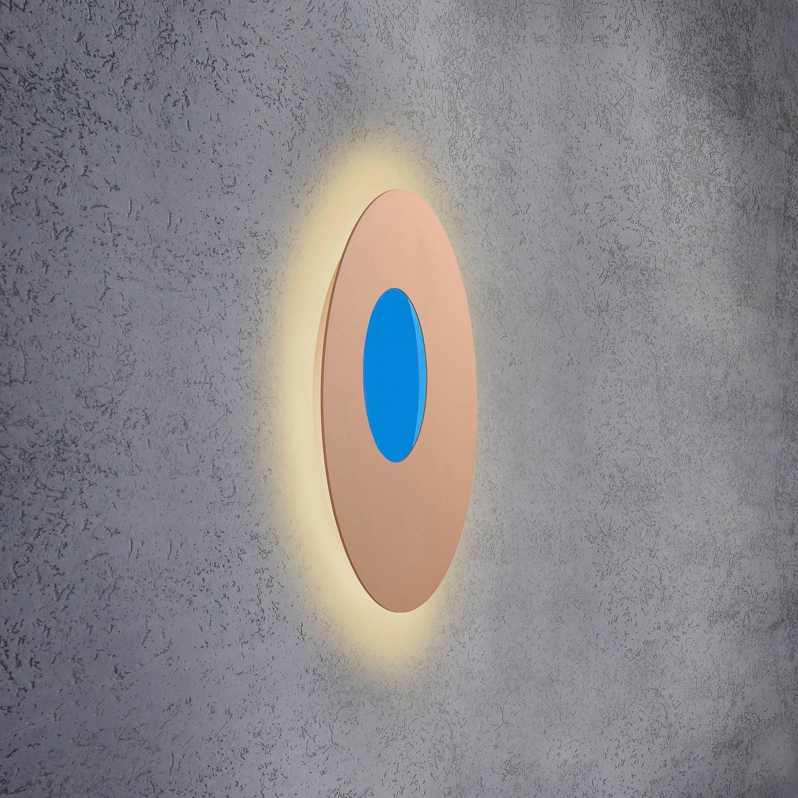 Escale Blade Open LED-Wandleuchte RGB+W rosé Ø59cm
