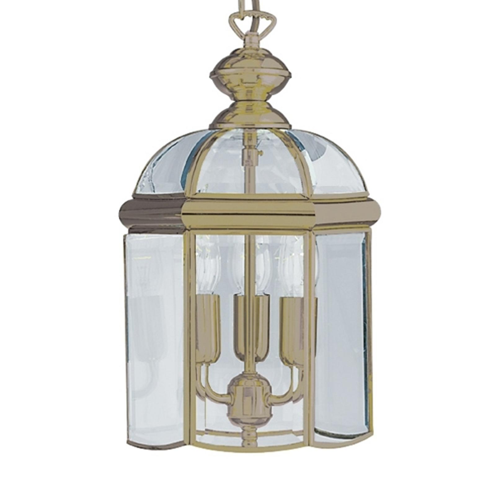 Lampada sosp forma lanterna ARLIND, ottone antico
