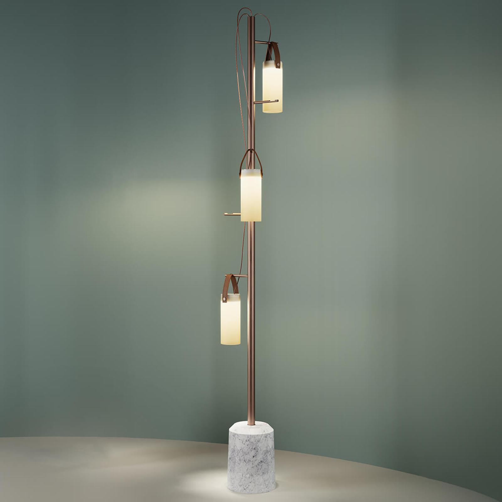 3-punktowa designerska lampa stojąca LED Galerie