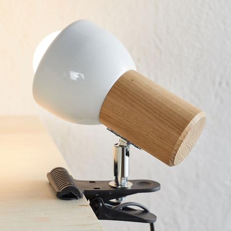 Malá svítilna s klipem Clampspots dubové dřevo