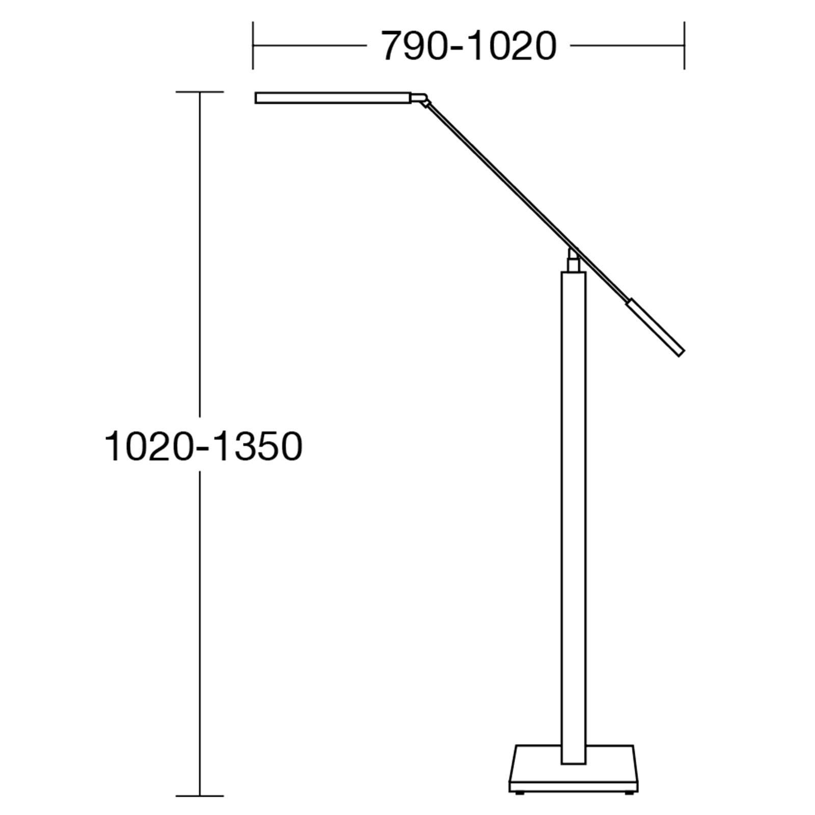 HerzBlut Otto O lampadaire liseuse LED chêne huilé