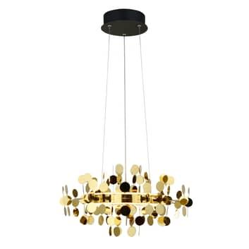 Lucande Glimmo -LED-riippuvalaisin musta, messinki