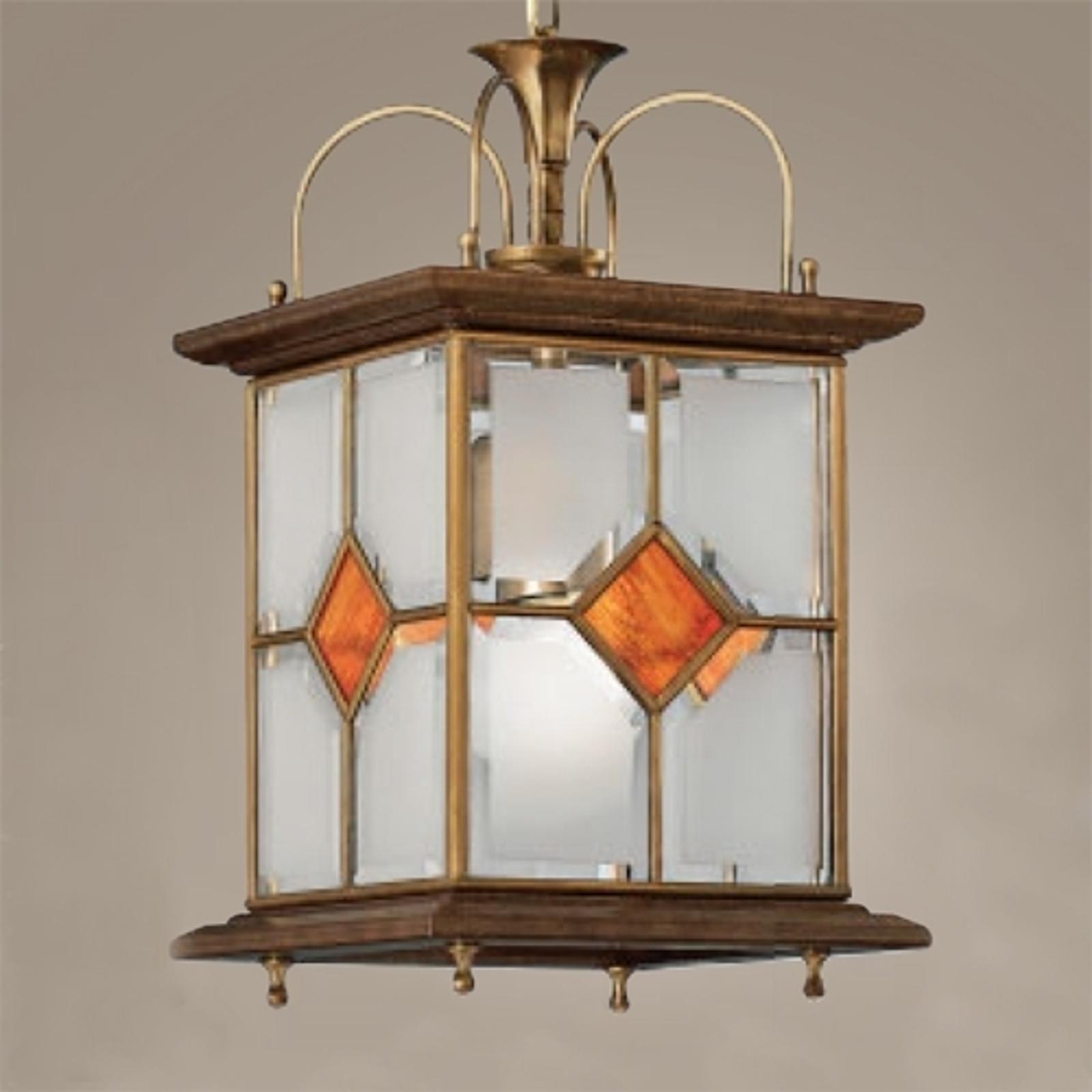 Houten hanglamp Ole