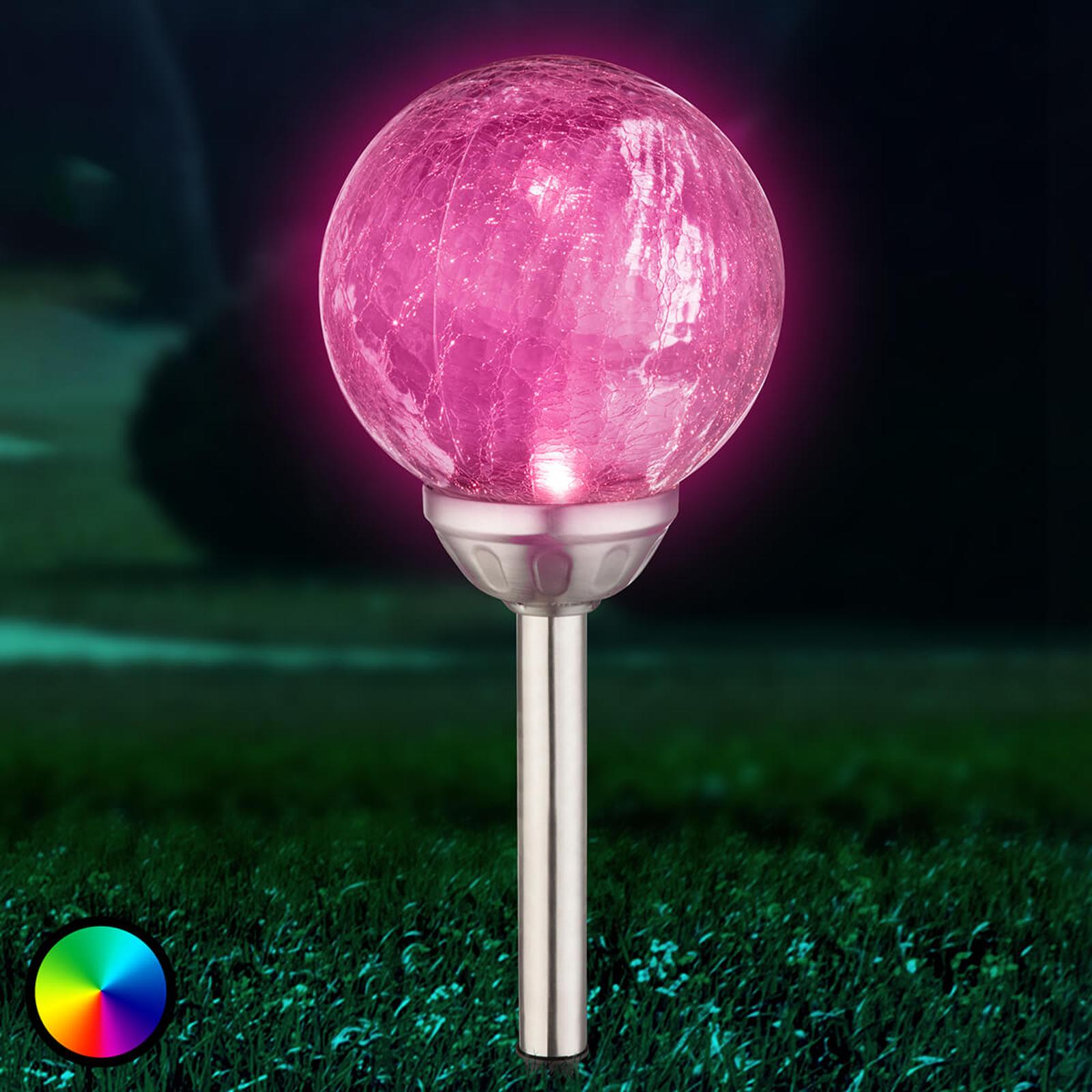 Aurinkokäyttöinen LED-pallovalaisin, värin vaihto