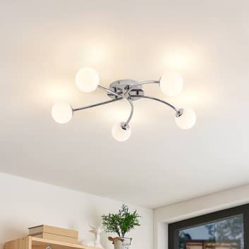 Lindby Chrissy taklampa, 5 lampor, 59 cm