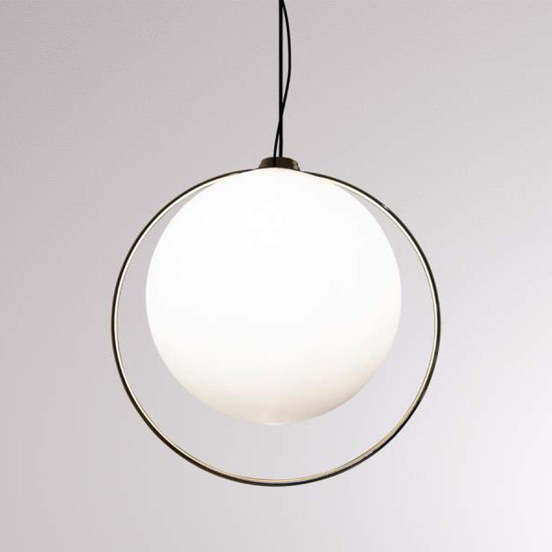 LOUM Tycho lampa wisząca z mosiężnym pierścieniem