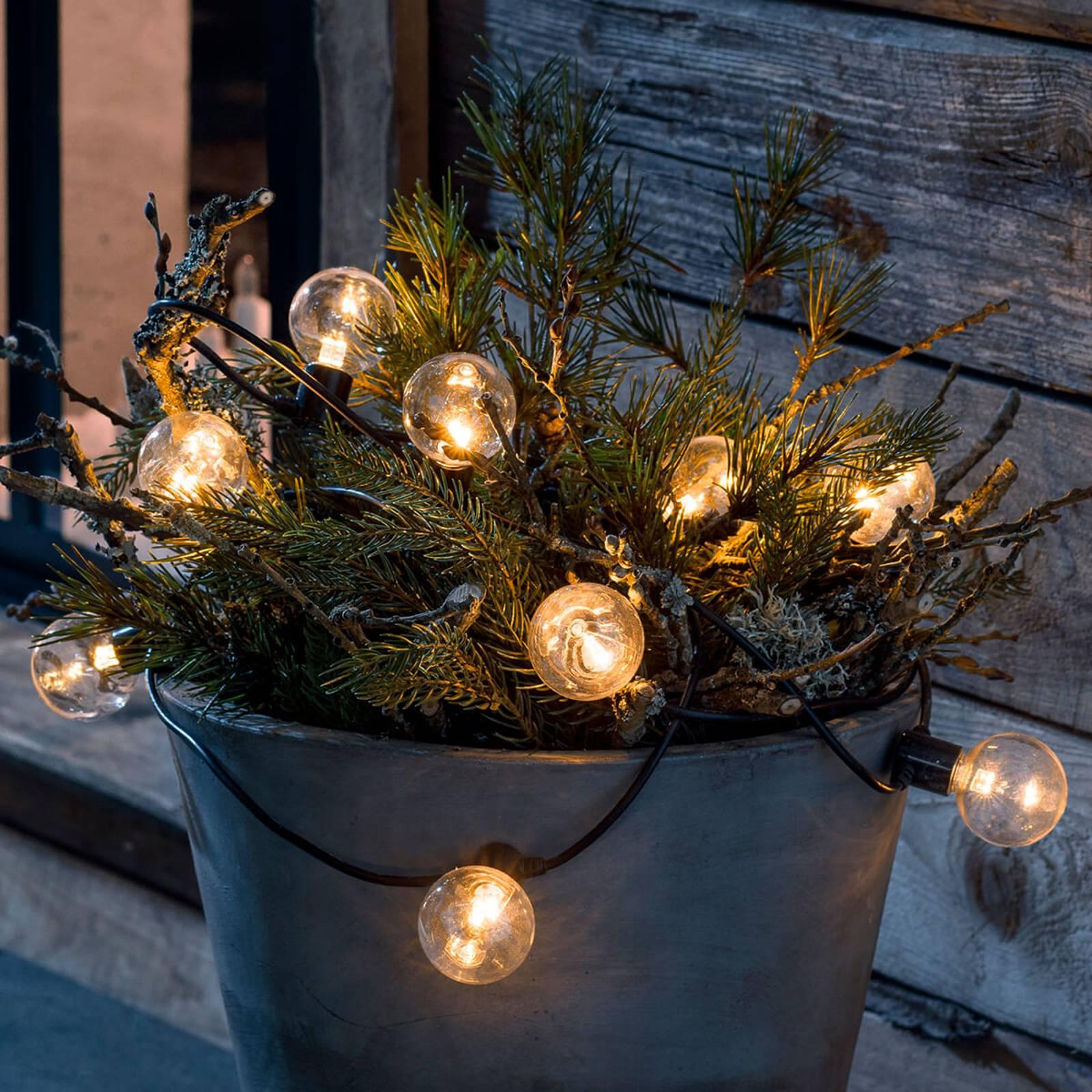 Catena LED look filamento ambra 10 luci