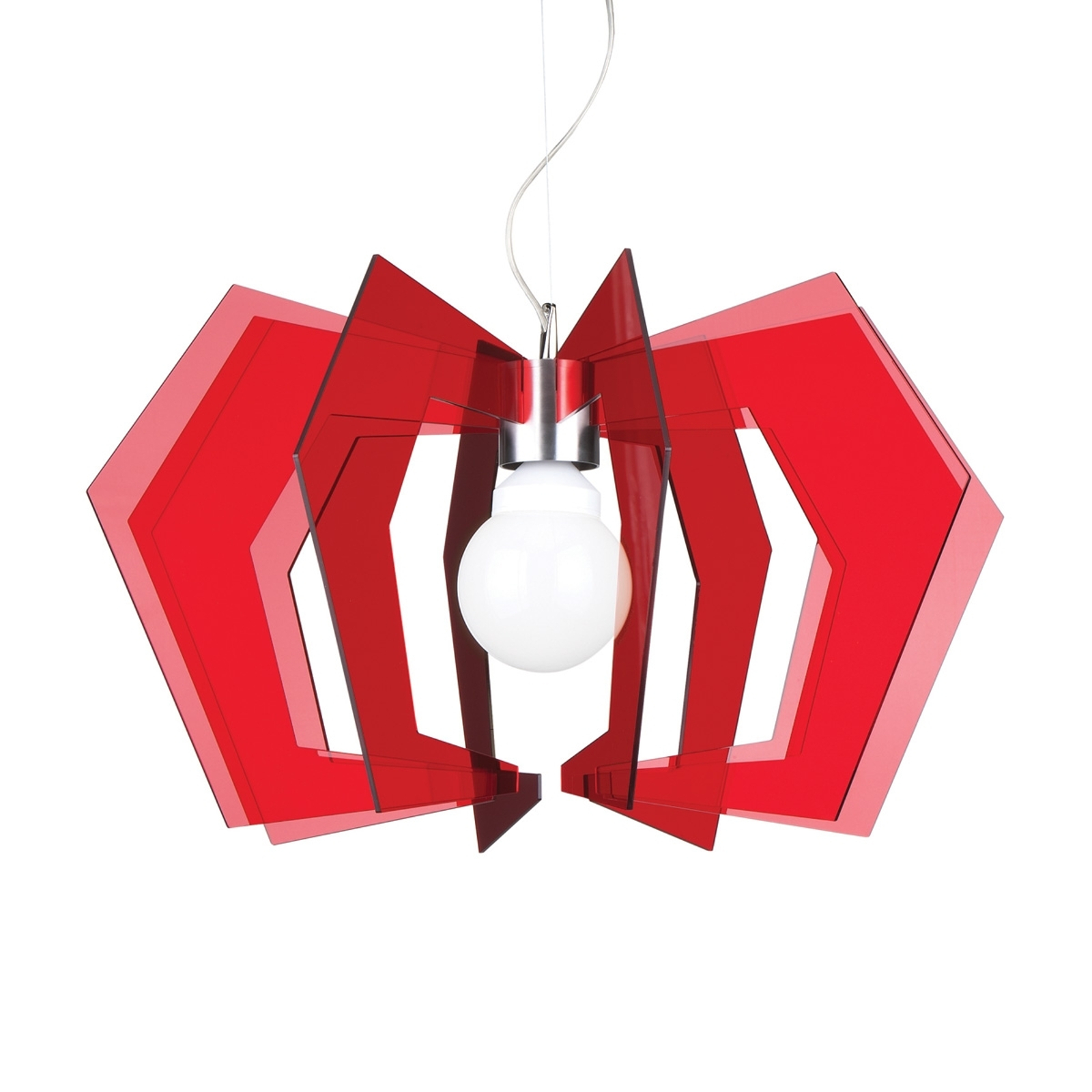 Czerwona lampa wisząca Spider