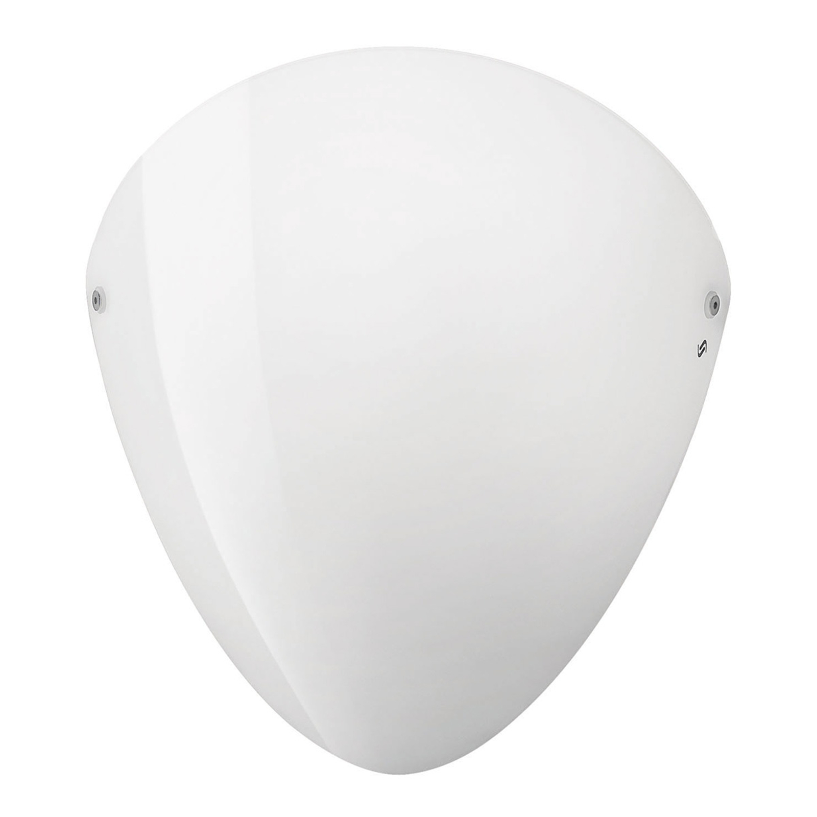 Ovalina - wandlamp E27 wit glanzend