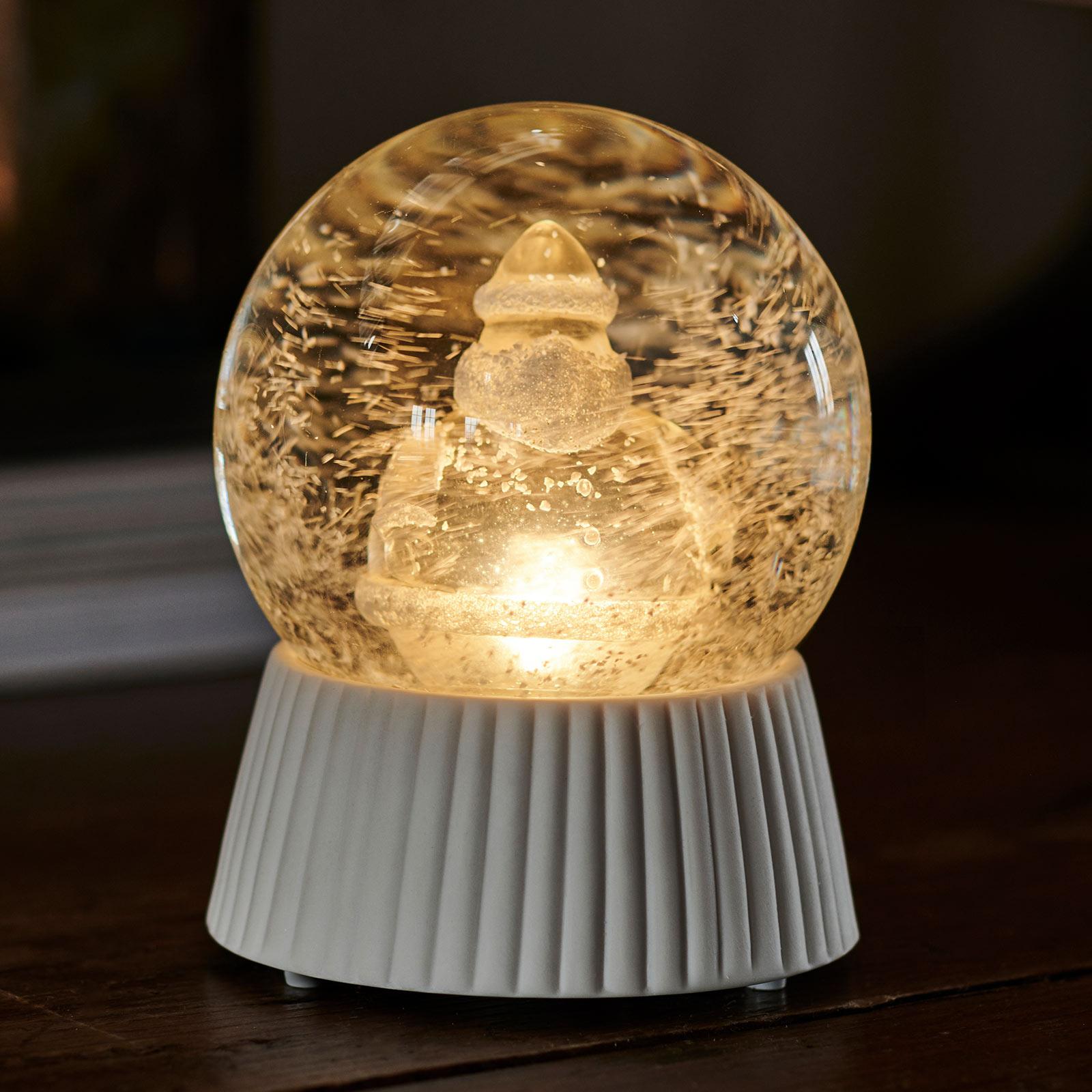 Boule à neige LED Santa avec effet chute de neige