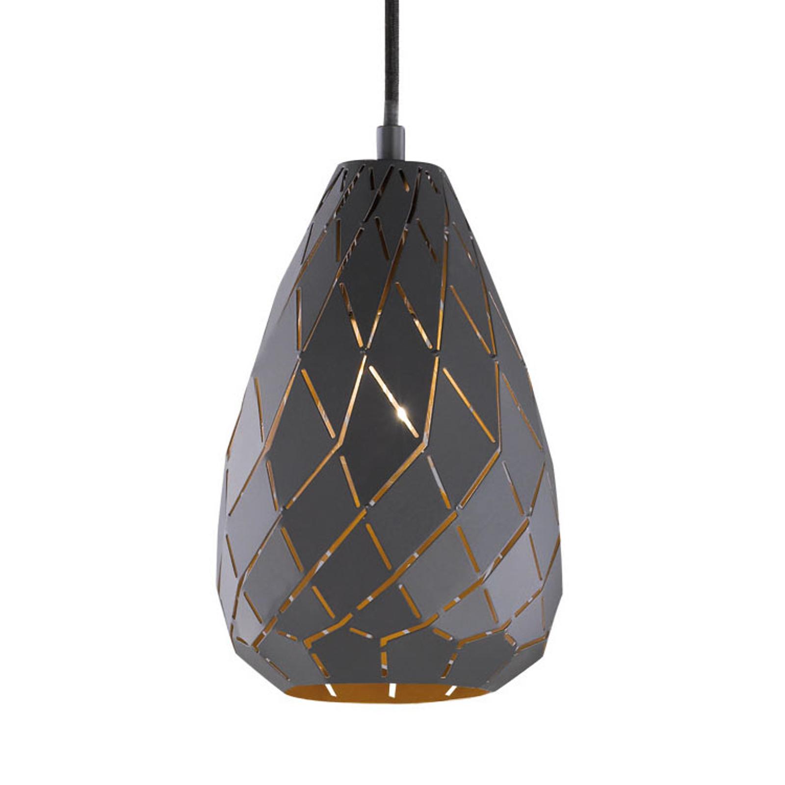 Diseño antracita y dorado - lámpara colgante Onyx