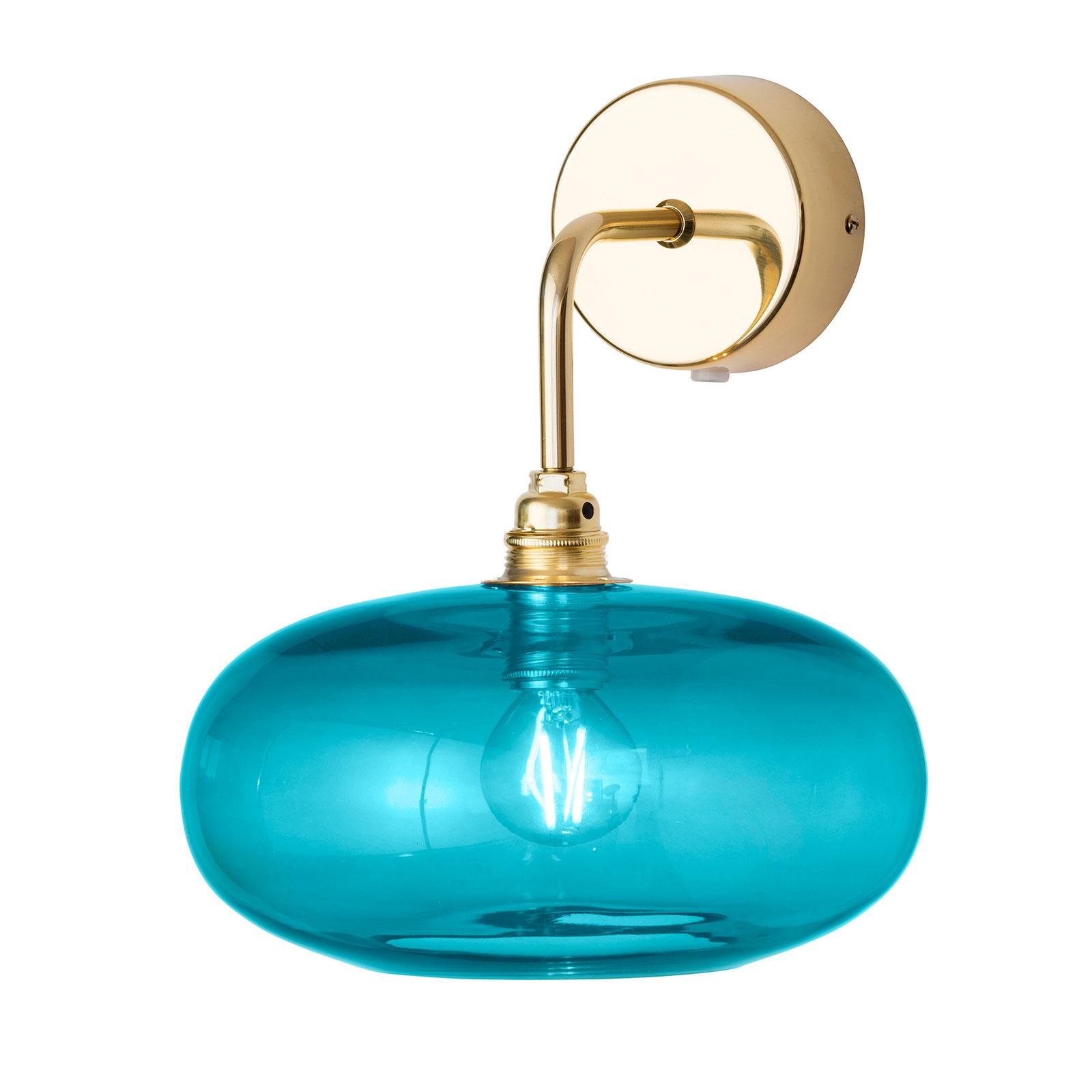EBB & FLOW Horizon nástěnné zlatá/modrá Ø 21 cm