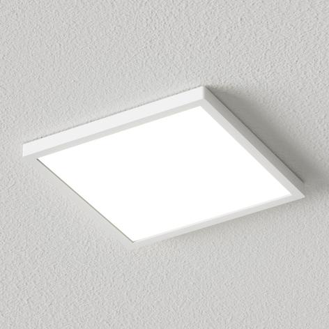 Bílé hranaté LED stropní svítidlo Solvie