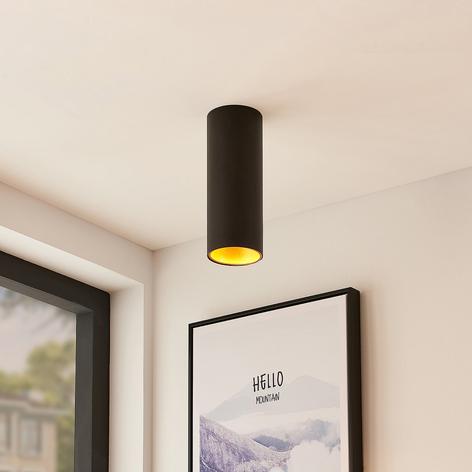 Arcchio Hinka plafondlamp, rond, 25,4 cm zwart