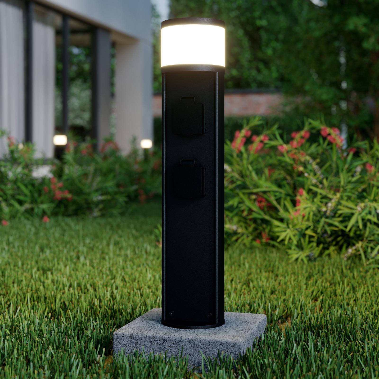 Lucande Corban sockellampa, 2 eluttag