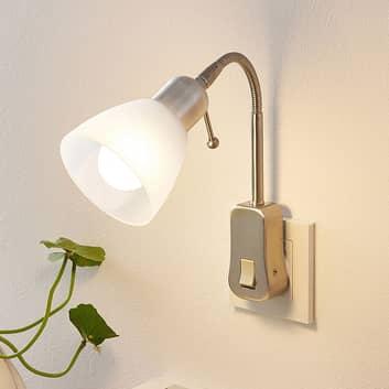 Lindby Aika stopcontactlamp, flexarm, schakelaar