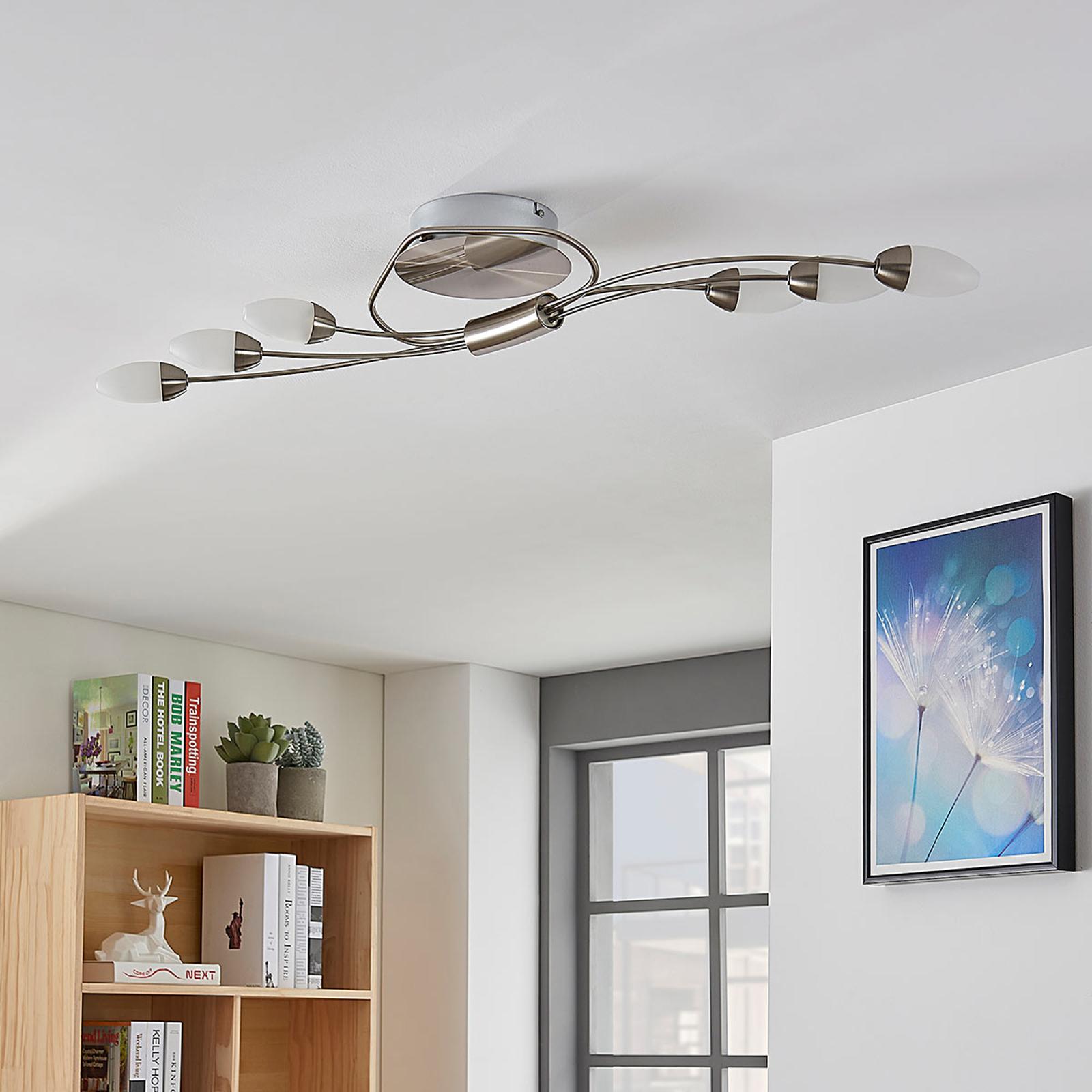 Plafoniera LED Deyan a 6 luci, forma allungata