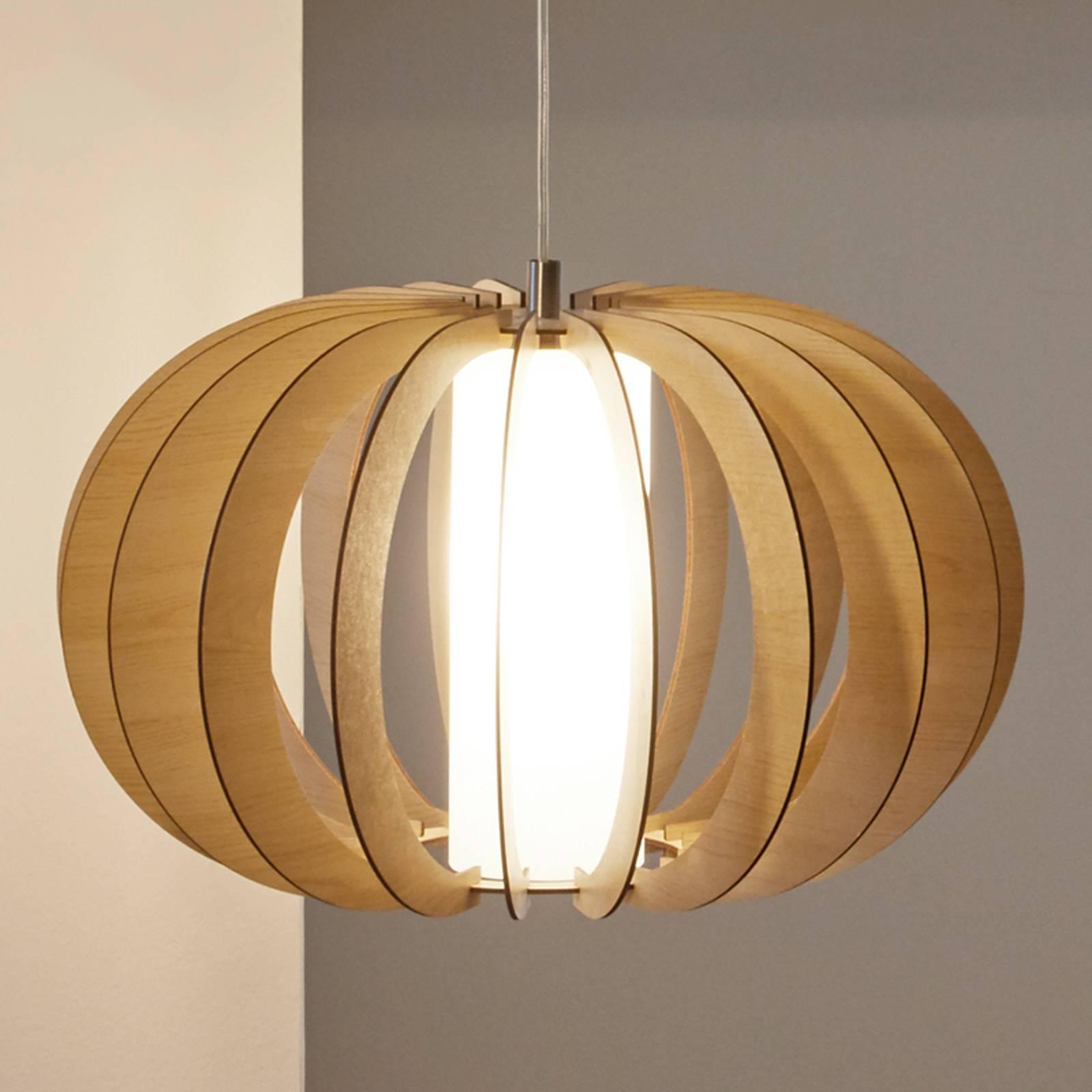Bruine houten hanglamp Stellato, 50 cm