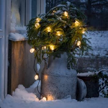 Světelný řetěz Biergarten 40 kapek čirá jantar
