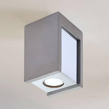 Lámpara de techo de hormigón Freyja, 1 luz
