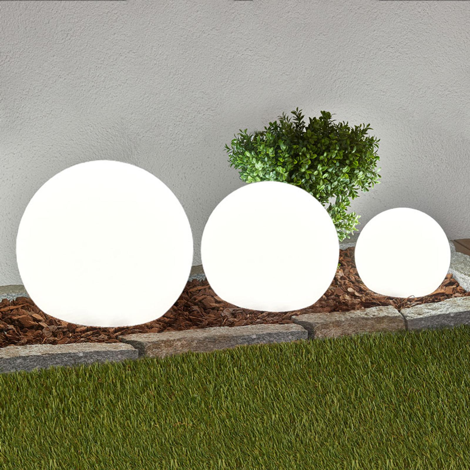 LED-aurinkovalaisinsarja Lago, pallo, 3 osaa