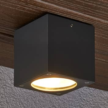 Hoekige led-plafondlamp Meret voor buiten