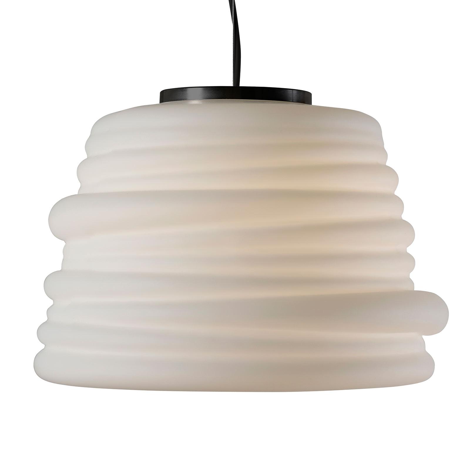 Karman Bibendum lampa wisząca LED, Ø 35 cm, biała