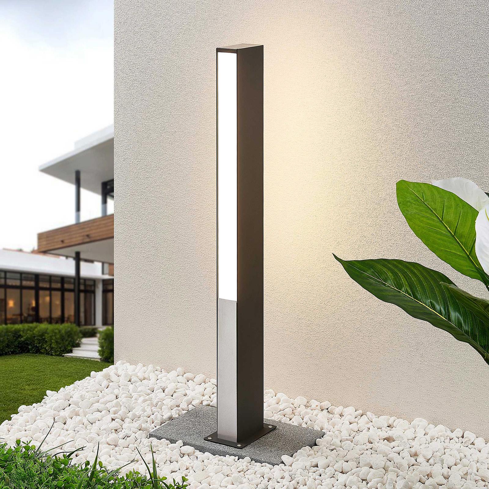 Lucande Aegisa borne lumineuse LED, 80cm