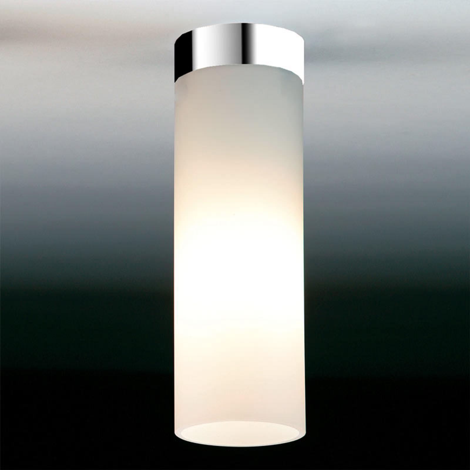 Mat witte plafondlamp DELA BOX, chroom