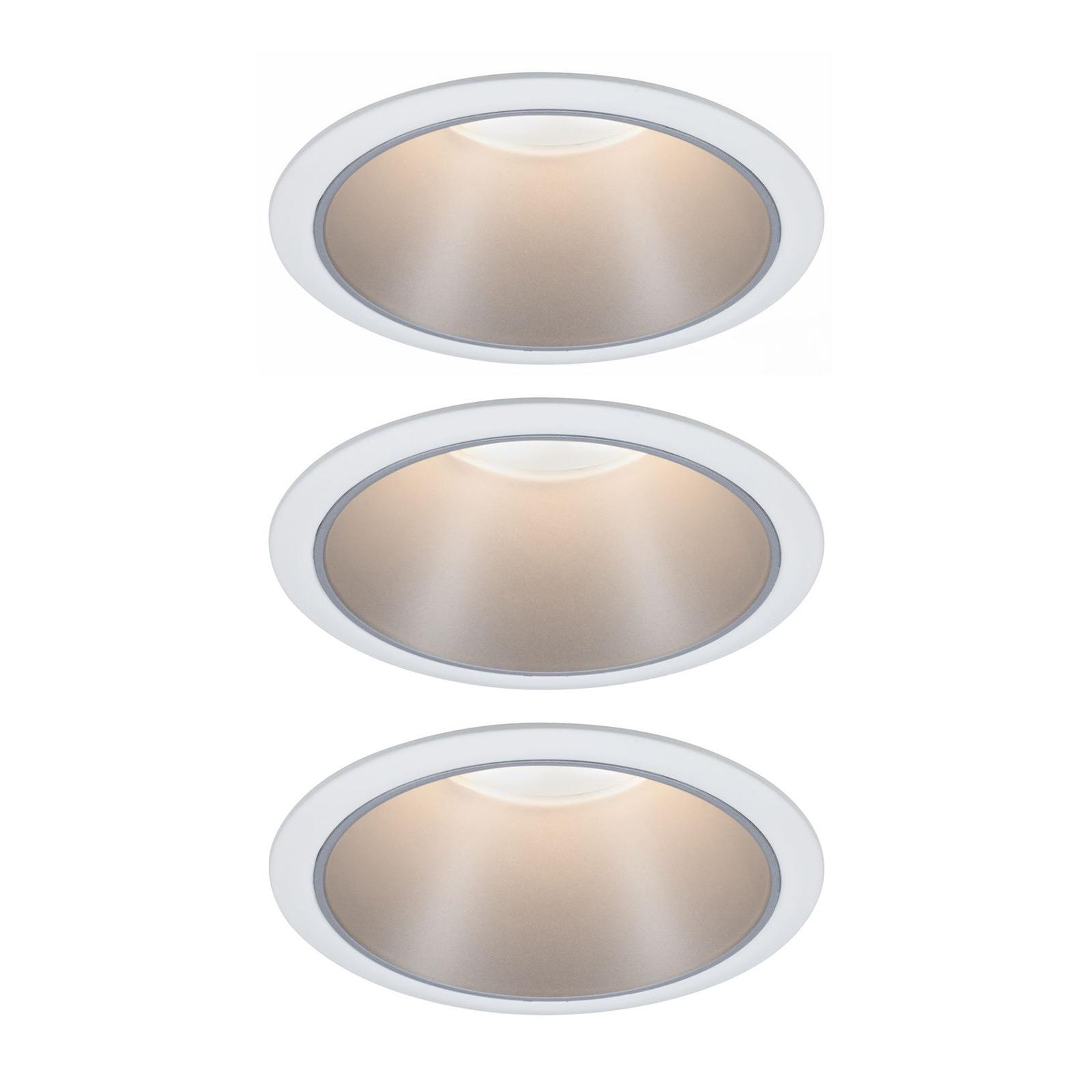 Paulmann Cole LED-spot, sølv-hvit, 3-pakning