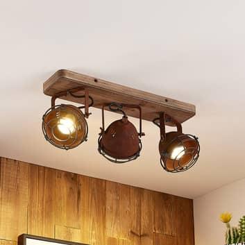 Lindby Farovi takspot, rust, 3 lyskilder