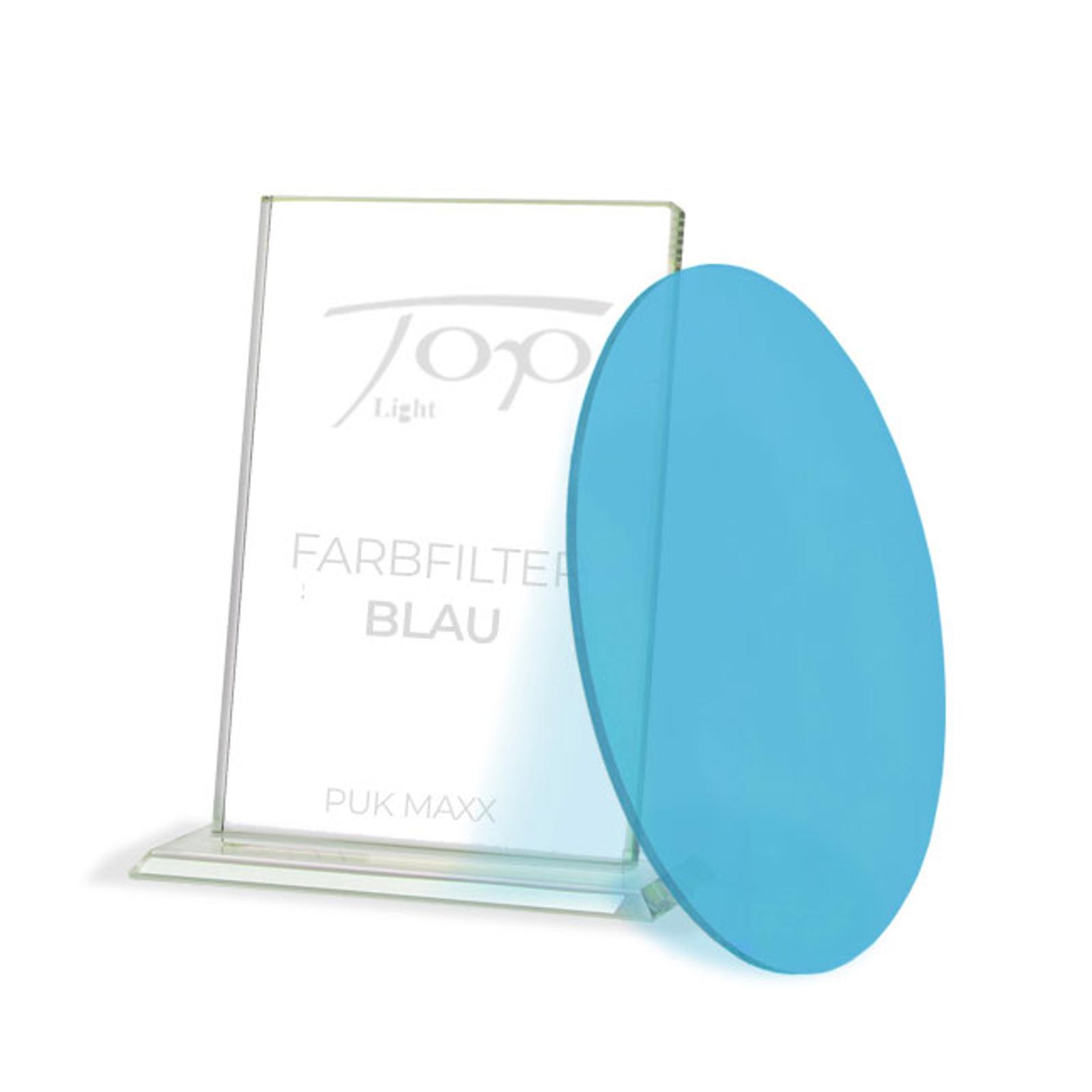 Fargefilter for lampeserien Puk Maxx, blå